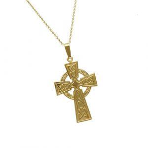 large-gold-celtic-cross