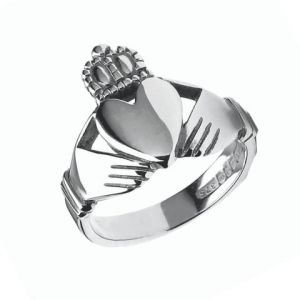 mens-heavy-sterling-silver-claddagh-ring