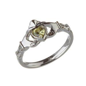 Modern-August-Birthstone-Claddagh-Ring