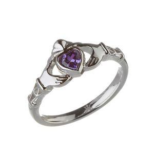 Modern-Febuary-Birthstone-Claddagh-Ring