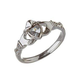 modern-march-birthstone-claddagh-ring