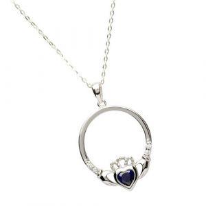 september-birthstone-claddagh-pendant