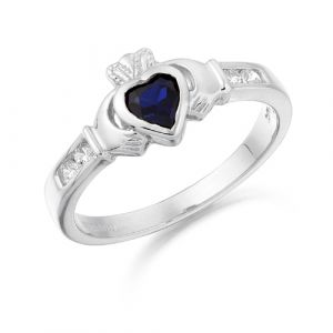 small-white-gold-claddagh-ring-with-dark-blue-cz
