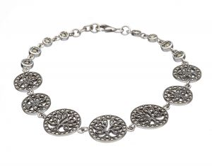 sterling-silver-marcasite-tree-of-life-irish-bracelet