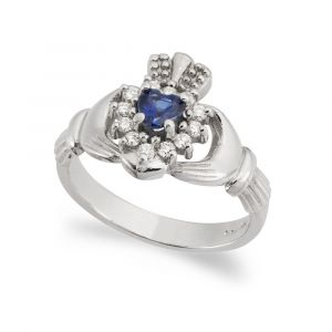 The-Cashel-Claddagh-Ring-in-18kt-White-Gold-and-Sapphire