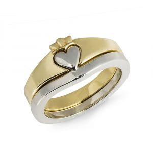 Ladies-gold-claddagh-ring-114k-two-toned-ring