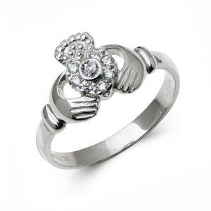 14-karat-White-Gold-Diamond-Claddagh-Ring