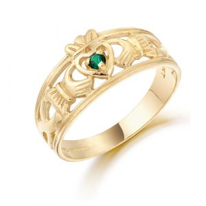wideband-claddagh-ring-with-green-cz