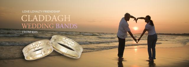 Claddagh Wedding Band Collection