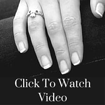Claddagh ring on a hand
