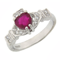 Ruby Claddagh Ring
